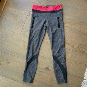 Gray lululemon cropped leggings with pockets